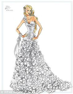 Disney inspired bridal gowns! Rapunzel gown - Maybe one of my princesses will love this one