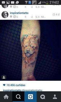 Tatuagem de chow chow