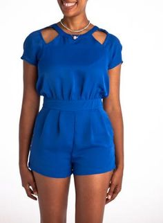 Back Out Blue Romper,  Bottoms, back out blue romper, Casual