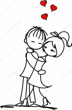 Valentine doodle boy and girl — Stock Vector © virinaflora Doodle Art, Doodle Drawings, Cartoon Drawings, Cute Couple Drawings, Love Drawings, Easy Drawings, Valentine Doodle, Valentines Day Drawing, Love Doodles