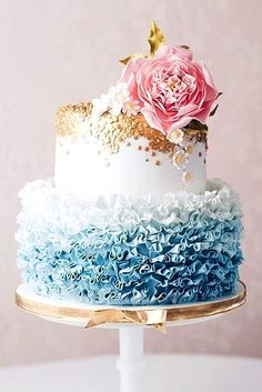 Fantastic Ombre Wedding Cakes ❤ See more: http://www.weddingforward.com/ombre-wedding-cakes/ #weddingforward #bride #bridal #wedding