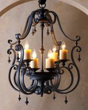 gorgeous iron chandelier- I would rather it be candle instead of electric Bedroom Lighting, Home Lighting, Lighting Stores, Luxury Lighting, Lighting Ideas, Quinta Interior, Luxury Interior, Modern Interior, Interior Architecture