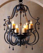 gorgeous iron chandelier