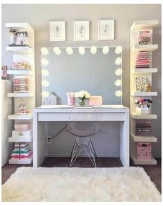 Bedroom Storage For Small Rooms, Bedroom Decor For Teen Girls, Cute Bedroom Ideas, Cute Room Decor, Teen Room Decor, Room Ideas Bedroom, Tween Girls, Diy Bedroom, Teen Room Storage