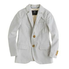 Little Boys' sportcoat in seersucker from JCrew