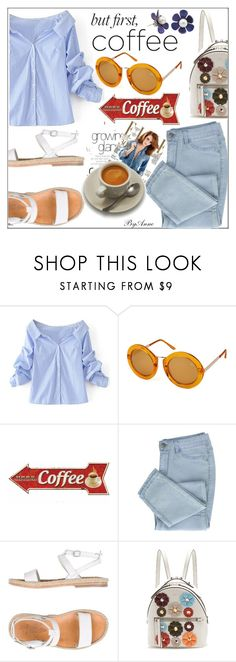 """""""Happy Sunday polyfriends <3"""" by anne-977 ❤ liked on Polyvore featuring WithChic, Quay, n.d.c., Fendi, polyvorecontest and coffeebreak"""