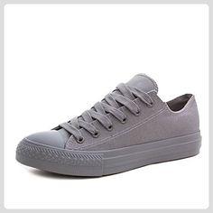 59b88a54ad4703 Klassische Unisex Damen Herren Schuhe Low High Top Sneaker Turnschuhe Grau  41 - Sneakers für frauen