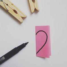 """126 Likes, 1 Comments - kiezcouture - 3x Berlin & DIY (@kiezcouture) on Instagram: """"#PBsays Mini-DIY mit Herz. Alles, was ihr dafür braucht, sind Wäscheklammern, Papier, Schere, Stift…"""""""