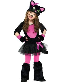 Girl's Miss Kitty Costume! See more #costume ideas for Halloween and more at CostumeSuperCenter.com