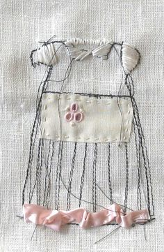 so sweet. What if I designed dresses to look like Baptisimal gowns and gave to parents as a Baptism gift / keepsake. Embroider the appropriae dates on them. -- by Collette Copeland