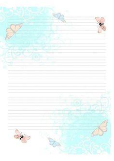 hoja con mariposas