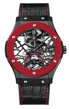 HUBLOT Red'n'Black Skeleton - Piece unique for supporting Only Watch 2013:
