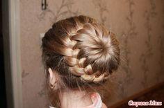 DIY Unique Braided Bun Hairstyle 12
