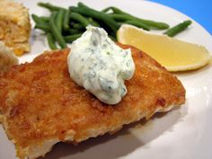 Cornflake Crusted Halibut with Chile-Cilantro Aioli | Taste and Tell