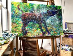 """New post: Iris Scott Channels Her Inner Jackson Pollock for """"Canis Major"""""""