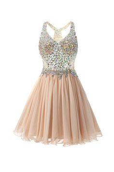 A Line Prom Dresses, Prom Dresses Short, Princess Prom Dresses, #shortpromdresses, Halter Prom Dresses, Knee Length Prom Dresses, Short Prom Dresses, Beaded Prom Dresses