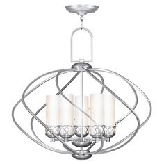 Create an eye-catching focal point in your dining room or foyer with this 5-light chandelie