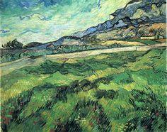 The Green Wheatfield Behind The Asylum 1889 Vincent van Gogh