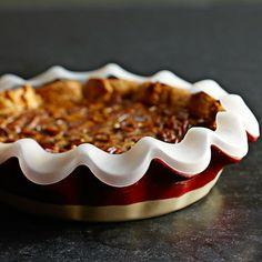 Emile Henry Artisan Mini Ruffled Pie Dish with pie crust protector #williamssonoma