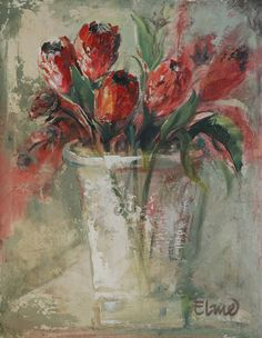 abstract oil painting of proteas - Google Search Simple Canvas Paintings, Abstract Canvas Art, Oil Painting Abstract, Flower Paintings, Oil Paintings, South African Artists, Whimsical Art, Watercolor Flowers, Art Pictures
