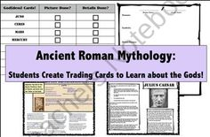 The Mythology of Ancient Rome: Students Create God & Goddess Trading Cards! from Mr Educator on TeachersNotebook.com (20 pages)  - Students make Roman God and Goddess trading cards!  Create (and collect) the whole set!