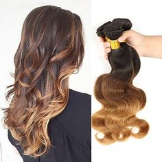 Beautyplus Hair Remy Ombre Body Wave Human Virgin Hair Extensions Fashion type Brazilian Wave Weaves Hair (T1B/4/27) 3 Bundles (16 18 20 Inches) -- Want to know more, visit