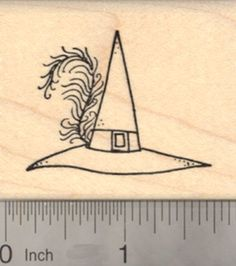 Halloween Witch Hat Rubber Stamp with Fancy Feather Trim *** Be sure to check out this awesome product.