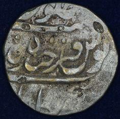 Silver Rupee of Mir Mahabub Ali Khan of  Hyderabad Farkhanda Bunyad Mint. • Coins Shop by Marudhar Arts on Kolektado