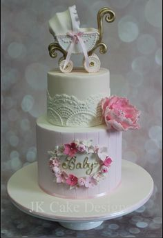 Vintage baby pram cake I have made this design a hundred times it feels like but I still love it x