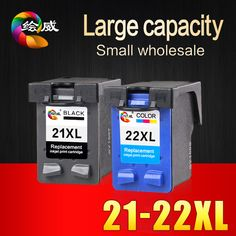 2 Pcs Ink Cartridge for HP 21 22 XL  For HP cartridges 21 and 22   for  HP Deskjet 3915 D1530 D1320 F2100 F2280 F4100 F4180