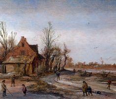 Esaias van de Velde - Winterlandschap (1)