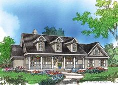 Farmhouse House Plan with 2195 Square Feet and 4 Bedrooms(s) from Dream Home Source | House Plan Code DHSW14787
