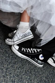 www.weddbook.com everything about wedding ♥ Wedding personalized Chuck Taylor Converse  #weddbook #wedding #shoes