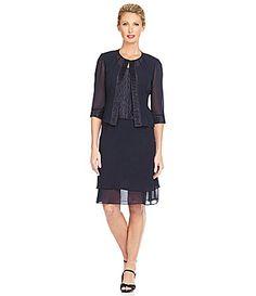 Le Bos Textured Jacket Dress #Dillards