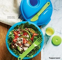 Salad On The Go Set $20  Great for on the go Includes Tupper Mini Container…
