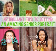 47 Brilliant Tips To Getting An Amazing Senior Portrait--or just any portrait I guess!
