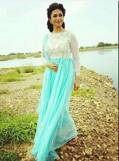 Divyanka Tripathi near river side before early morning shooting!