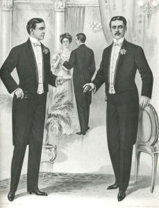 1904. Hombres en frac o 'full dress'