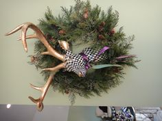 Large Deer Head I painted for the holidays.