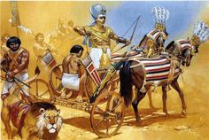 egyptian pharaoh ramses II in his chariot   The Lost Treasure Chest