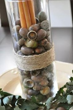 DIY Autumn : DIY easy fall centerpiece idea
