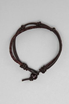 Knot And Braid Leather Bracelet