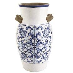 Blue & White Tile Design Vase | Pier 1 Imports