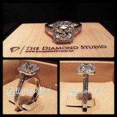 Here is another amazing @diamondboi halo ring. This ring was made with a 1.15ct cushion cut diamond. The diamond sits on a cushion bead set halo. The shank was also done in a bead setting. You all love this look? This is what I do! #diamond #diamonds #wedding #weddings #engagement #ring #rings #bride #brides #jewellery #jewelry #halo #diamondboi
