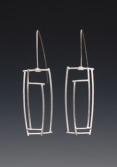 Rectangular Earrings: Donna D'Aquino: Silver Earrings - Artful Home