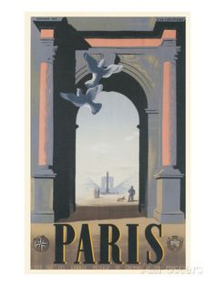Doves by Arch, Paris, France Posters - AllPosters.co.uk