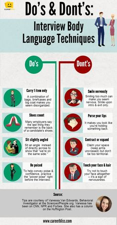 Body Language Tips for #Job #Interviews - #INFOGRAPHIC