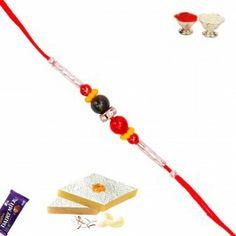 Send #Rakhi #Gifts Abroad like Pure Pearl and White Stones Hoops Rakhi at - http://www.rakhistoreonline.com/send-rakhi-to-usa/buy-regular-rakhi-usa/pure-pearl-and-white-stones-hoops-rakhi.html