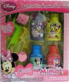 Disney Minnie Mouse Bathtub Fingerpaint Set - 4 Soap Paints