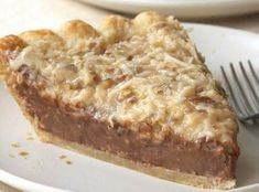 I found this recipe and, being a German Chocolate Cake lover, decided to try the pie. It is SO good.